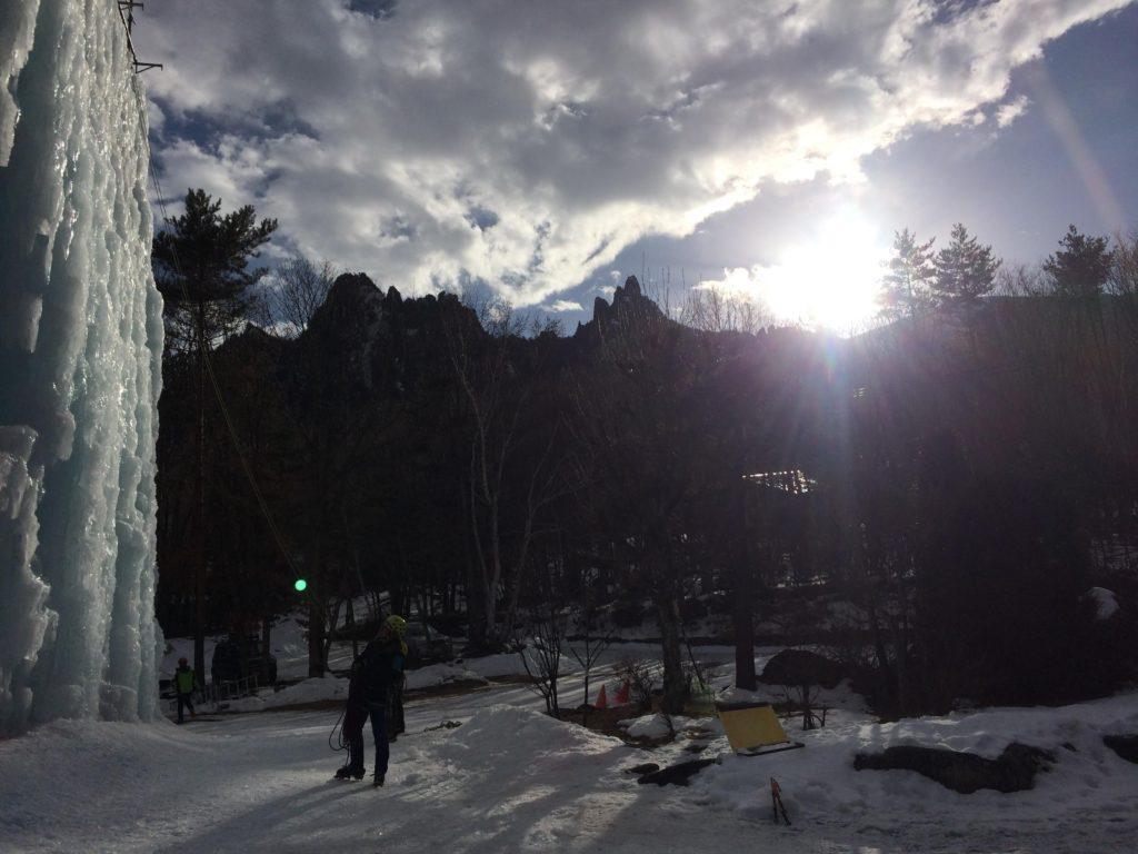 岩根山荘アイスツリーで、約2年ぶりのアイスクライミング